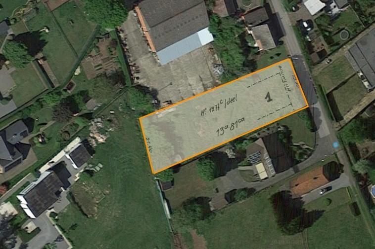 Te koop Bouwgrond open bebouwing (13a 82ca) op toplocatie in doodlopend straatje