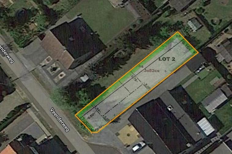 Te koop Knappe bouwgrond van 3a 82ca voor halfopen woning op rustige locatie
